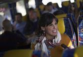 La candidata de Adelante Andalucía, Teresa Rodríguez, responde a una...