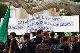 La manifestación ha llegado hasta las puertas del Parlament bajo el...