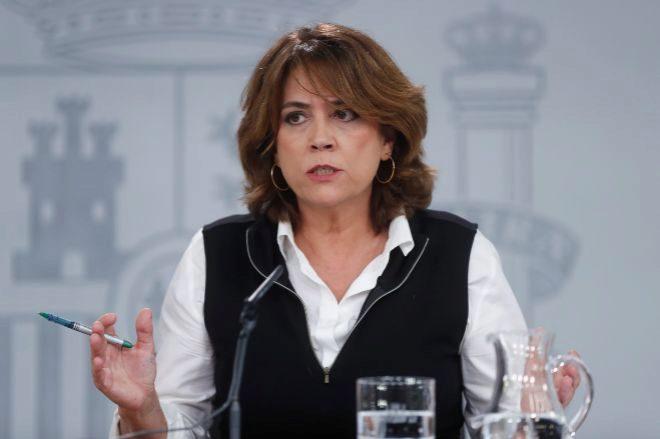La ministra de Justicia, Dolores Redondo, en La Moncloa,