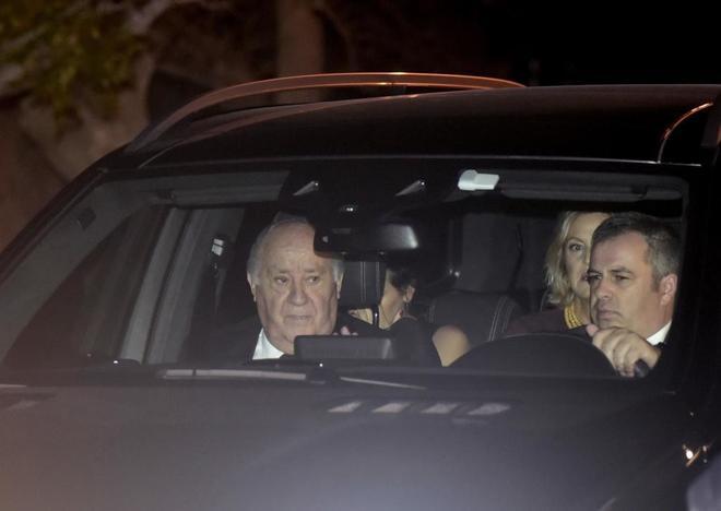 El empresario Amancio Ortega a su llegada al banquete nupcial tras la boda de su hija Marta Ortega, heredera del imperio Inditex, con Carlos Torretta.