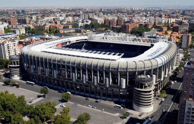 Imagen del exterior del estadio Santiago Bernabéu que albergará el...