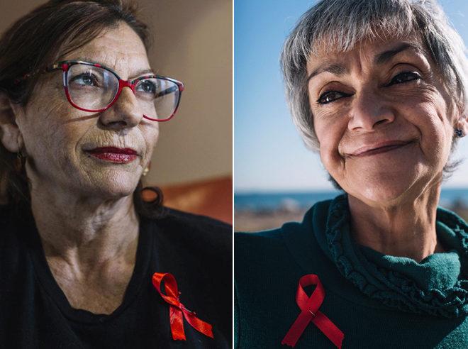 Ana Martín y Mar Linares, dos de las 'superVIHvientes' que han vivido más de tres décadas con el virus.