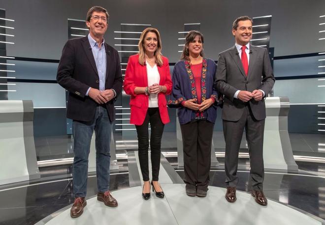 Los cuatro principales candidatos a la Presidencia de la Junta de...