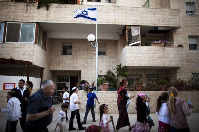 Asentamiento israelí en el barrio palestino de Ras Al Amud, al este de Jerusalén.