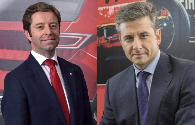 Victor Sarasola (izq.) nuevo director de márketing de Seat, y Alberto de Aza, nuevo consejero delegado de FCA Spain.