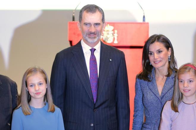 Los Reyes y sus hijas, Leonor y Sof