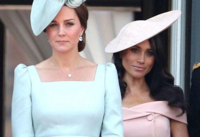 Kate y Meghan, en un acto público de la casa británica.
