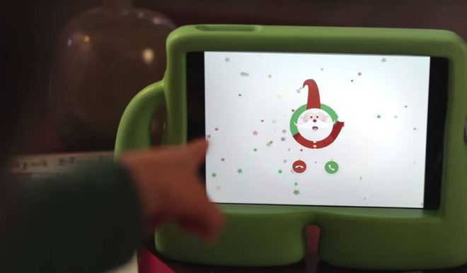 ¡Una videollamada entrante de Papá Noel!