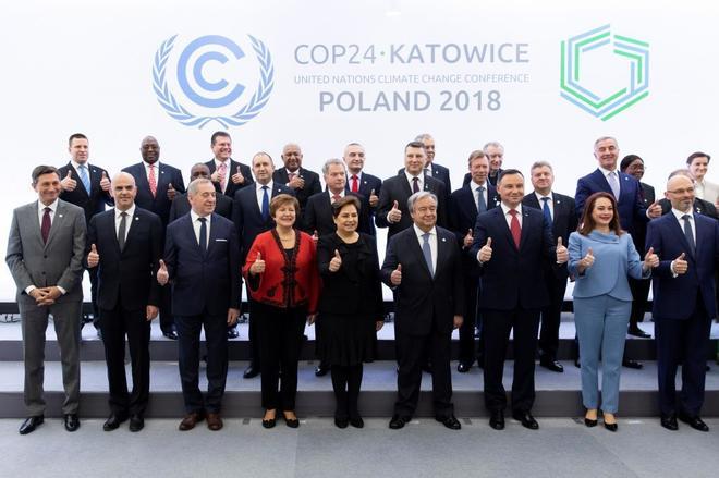 Los mandatarios asistentes a la cumbre, con Antonio Guterres, secretario general de la ONU, en el centro.