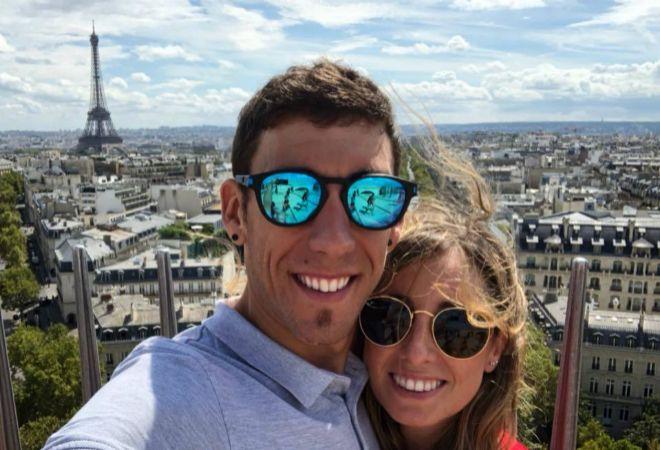 Omar Fraile y su novia, Eva González.