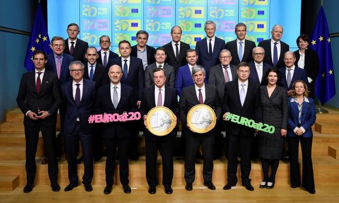 Reunión de los ministros de Economía y de Finanzas de la zona euro.