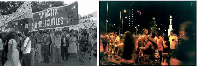 Manifestantes celebran el Día Mundial del Orgulllo Gay con una...