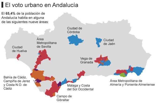El PSOE se desangra en la Andalucía rural y urbana