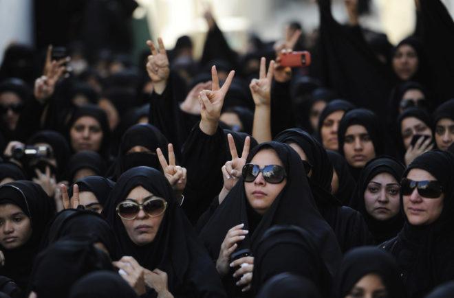 Un numeroso grupo de mujeres de Bahrein, en una imagen de archivo.