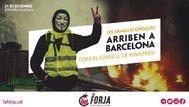 Cartel de promoción de la movilización organizada para el 21D por la Forja en su Twitter