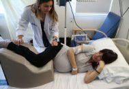 Ejemplo del uso del cojín con una paciente