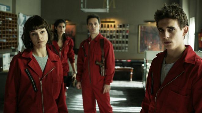 El reparto de la serie 'La casa de papel', creada por Atresmedia y actualmente en Netflix.