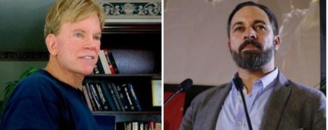 David Duke, ex líder del Ku Klux Klan, y Santiago Abascal, líder de...