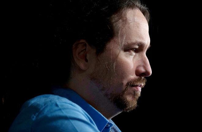 El líder de Podemos, en el cierre de la campaña de Adelante...
