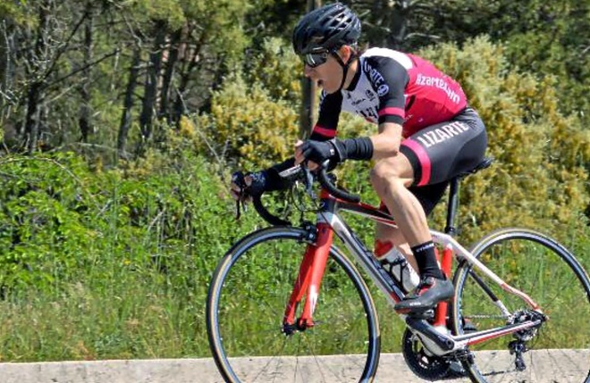 Iñigo Indurain, en una carrera disputada esta temporada.