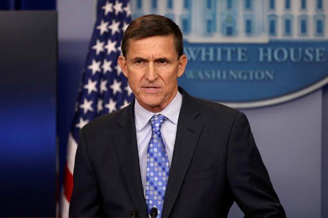 El ex asesor de Seguridad de la Casa Blanca Michael Flynn en Washington.