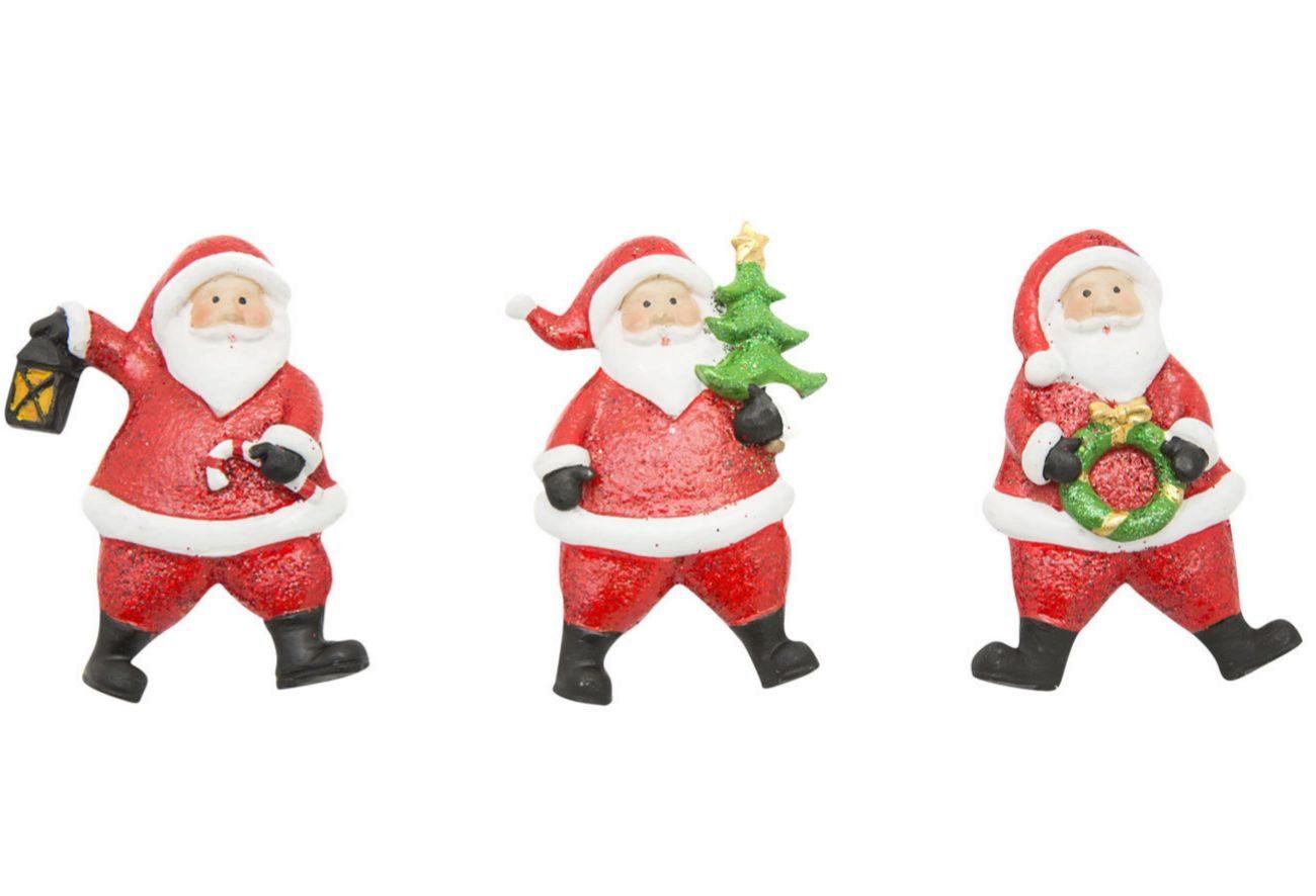 Colección de imanes de Papá Noel cubiertos de purpurina, a la venta...