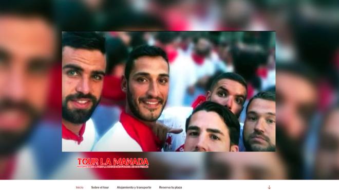 Imagen de la web que ofrece un tour por la Pamplona de La Manada.