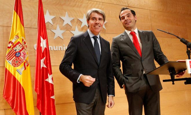 Ángel Garrido e Ignacio González, en un acto reciente.