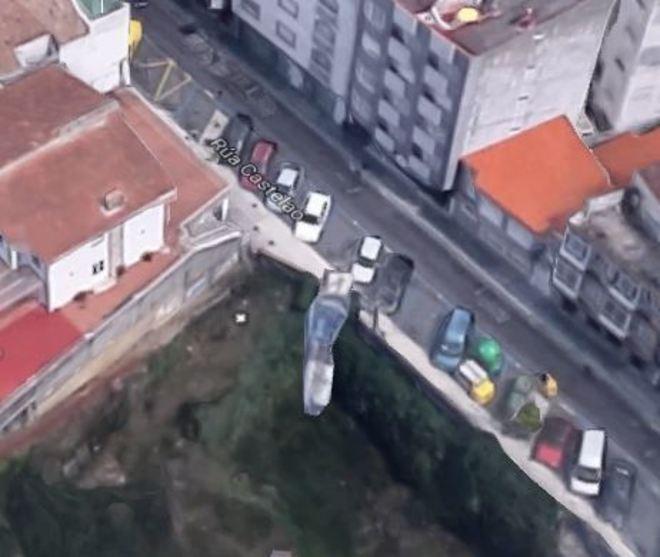 La calle Castelao, en O Grove (Pontevedra), donde han sucedido los...