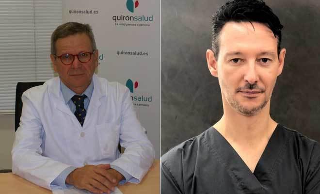 Los jefes de Pediatría y Dermatología en Quirónsalud, Gonzalo Pin y José María Ricart, respectivamente.