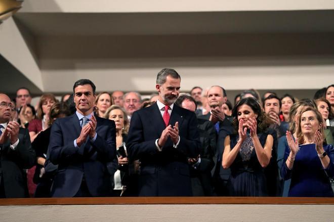 Ovación en el concierto en conmeración del 40 aniversario de la Constitución presidido por los Reyes