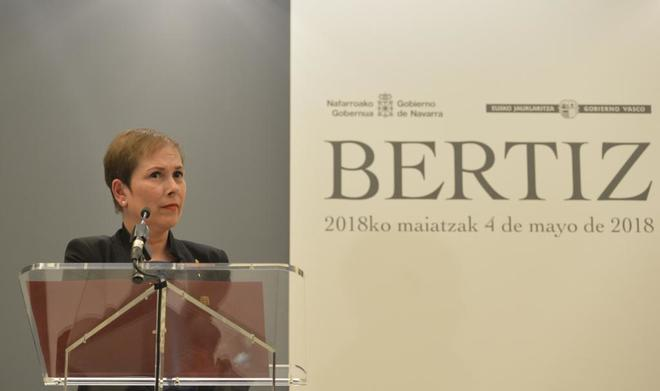 La presidenta de Navarra, Uxue Barkos.