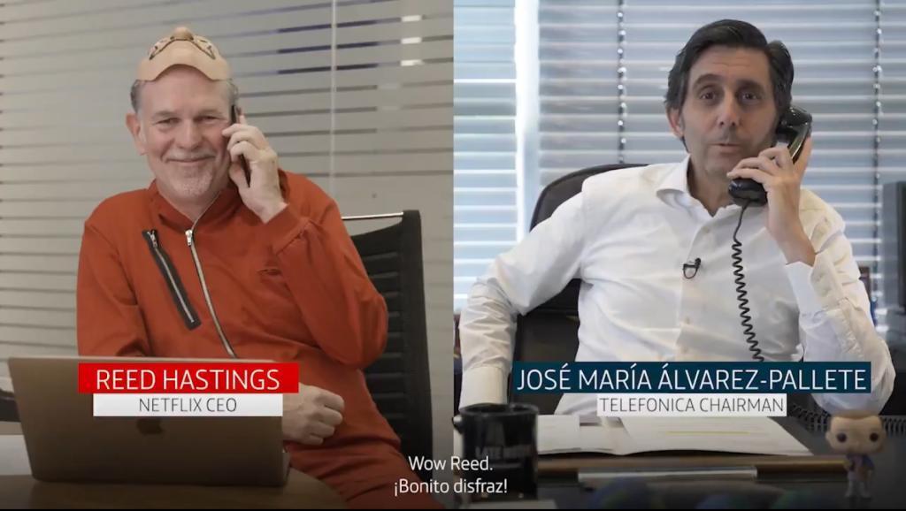 Reed Hastings, consejero delegado de Netflix, y José María...