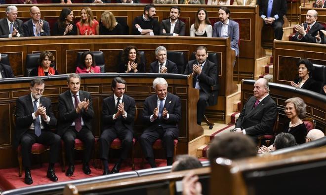 Juan Carlos I asistió al acto de la celebración de los 40 años de...