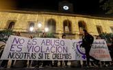 Concentración contra la sentencia del juicio de La Manada.