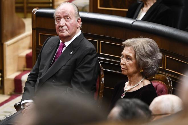 Los Reyes eméritos de España, Don Juan Carlos y Doña Sofía, en el...