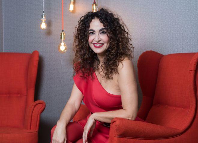 La presentadora, en la promoción de su nuevo libro.