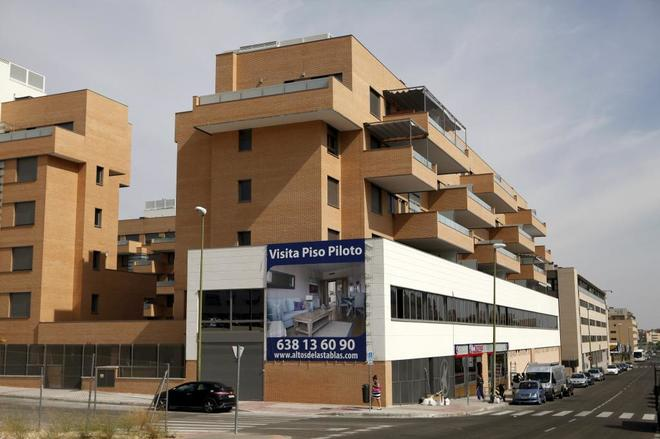 Una promoción de pisos de nueva construcción en un barrio madrileño.