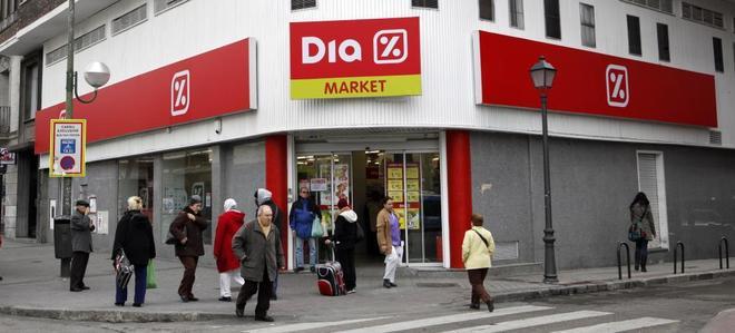Un supermercado de la insignia Dia en Madrid.