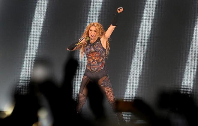 La cantante Shakira, en un concierto en Madrid