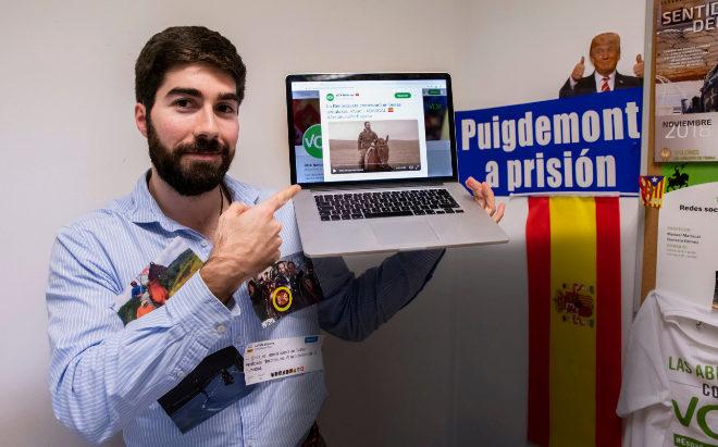 Manuel Mariscal, jefe de la estrategia digital de Vox.