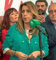 Susana Díaz tras conocer los resultados de las elecciones andaluzas.