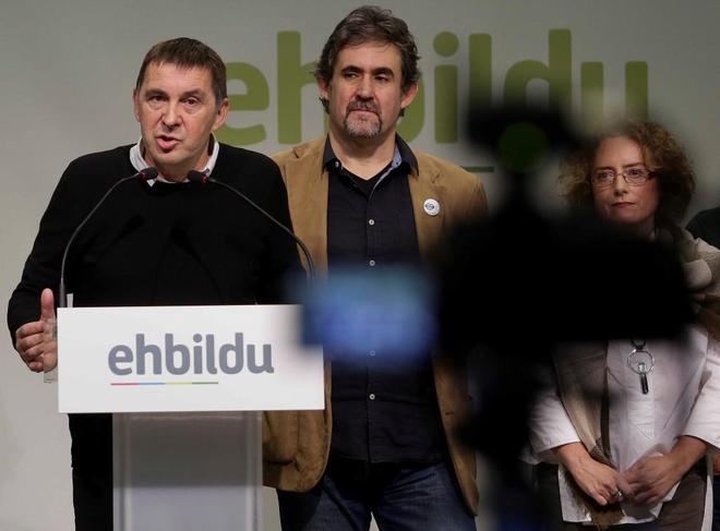 El líder abertzale y coordinador general de Bildu, Arnaldo Otegi