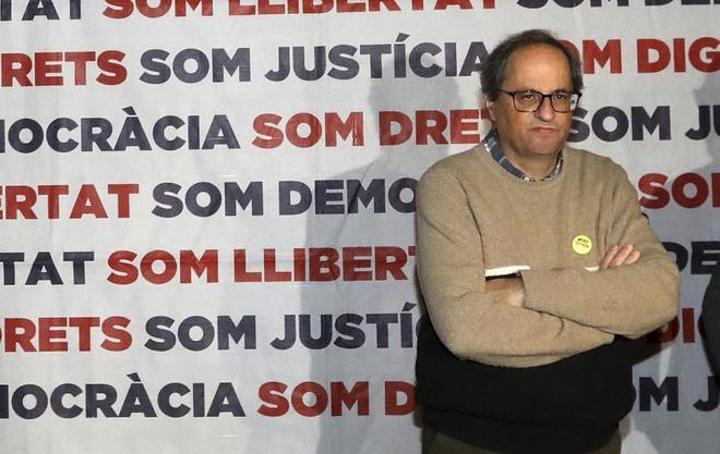 El president de la Generalitat Quim Torra, durante su ayuno en...