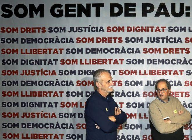 El presidente de la Generalitat, Quim Torra, antes del inicio de su...