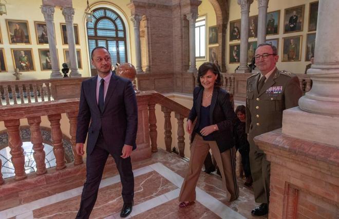 La vicepresidenta del Gobierno, Carmen Calvo, en Sevilla para la...