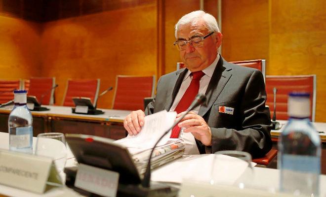 El ex dirigente del PSPV José Cataluña, el día que compareció en la comisión del Senado.