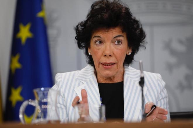 La portavoz del Gobierno y ministra de Educación y FP, Isabel Celaá.