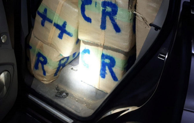 Parte del material confiscado a la red de narcos franceses