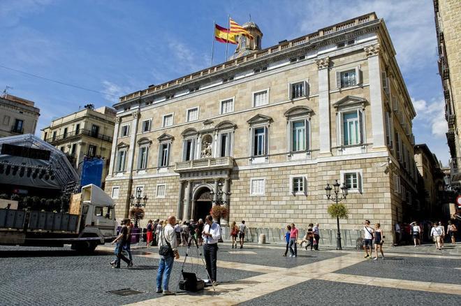 Palau de la Generalitat, en la plaza Sant Jaume.